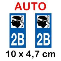 Plaque grav/ée autocollante 8cm cm Acier Corse fond Alu Bross/é