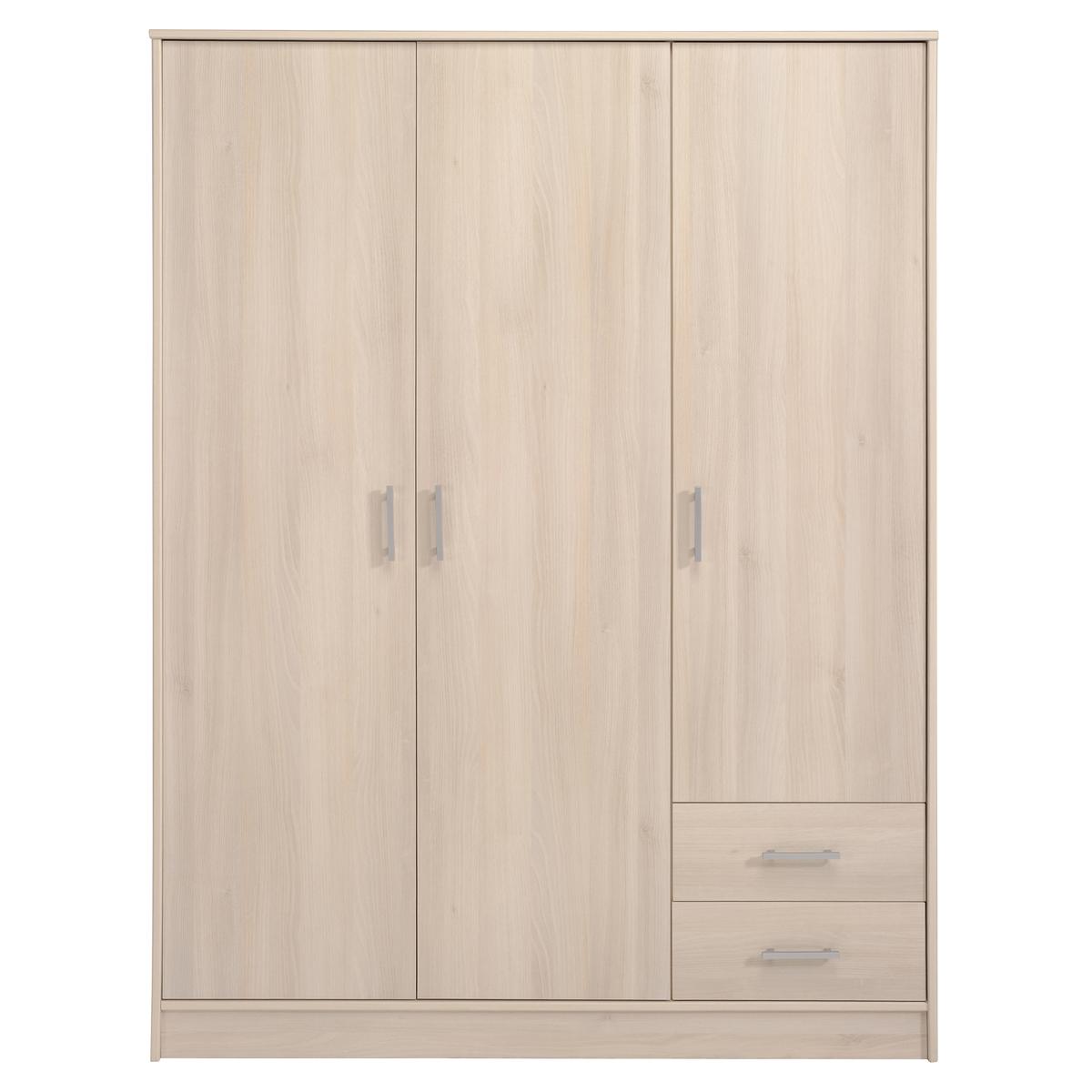 Armoire 3 portes 2 tiroirs ORIZON - Beige