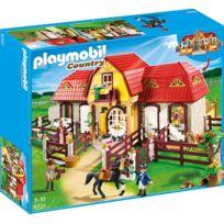 PLAYMOBIL - Haras avec chevaux et enclos - 5221