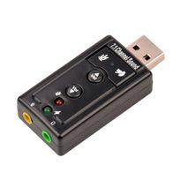 Cabling - Usb 2.0 7.1 Canal externe Usb Audio Carte Son Adaptateur avec 3.5mm Casque Microphone pour Pc , Ordinateur de bureau