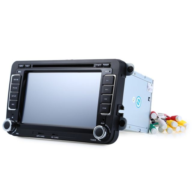 Auto-hightech Autoradio Stéréo Vidéo Dvd de Voiture 7 pouces 16 Gb avec Navigation Gps, Micro avec et Télécommande À Distance