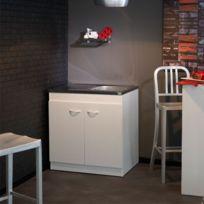 tousmesmeubles meuble sous vier de cuisine 80 cm sousev