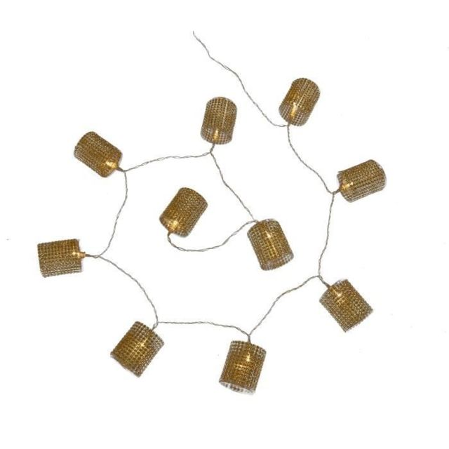 Led 10 Guirlande Fixe Noël Interieure Piles En Fil Diamants Or De Transparent Lumineuse Blanc Tubes QCtrhodBsx