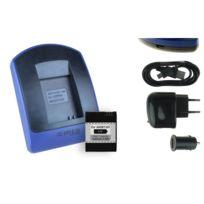 mtb more energy® - Batterie + Chargeur USB, pour GoPro Hero3, Hero3+ Black, White, Silver Ed