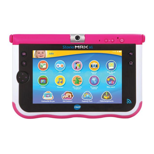 Vtech Tablette Educative Storio Max Xl 7 Rose 166855 Pas Cher