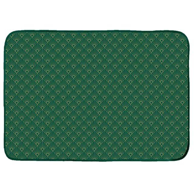 Douceur D'INTERIEUR Cdaffaires Tapis rectangle 120 x 170 cm velours imprime or graphigold Vert