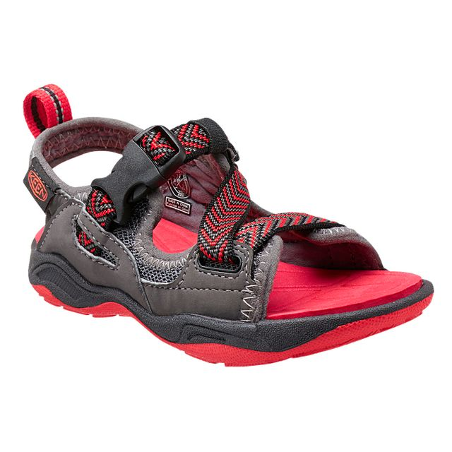 Keen Rock Iguana - Sandales Enfant - gris/rouge