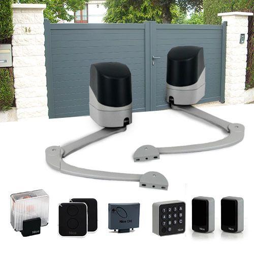 nice motorisation portail 2 battants popkit 7124 accessoires pas cher achat vente. Black Bedroom Furniture Sets. Home Design Ideas