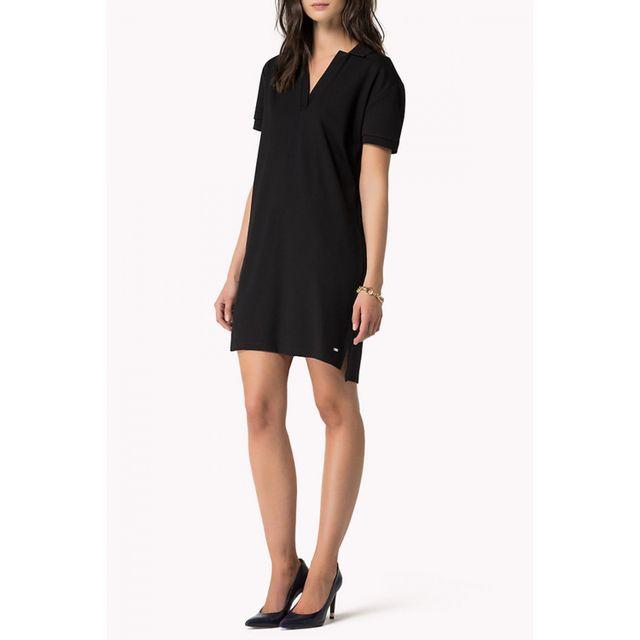 Tommy hilfiger - Robe Polo Desi noire pour femme - pas cher Achat   Vente  Robes - RueDuCommerce 983fd7e79f48