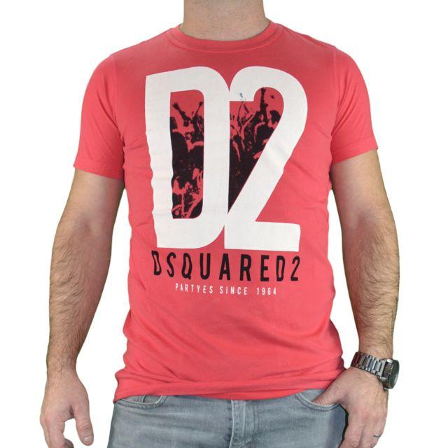 e99bf80a Dsquared2 - T-shirt Manches Courtes - Homme - Big D2 - Rouge XL - pas cher  Achat / Vente Tee shirt homme - RueDuCommerce