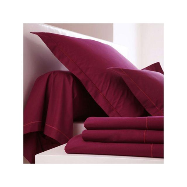 blanc des vosges drap housse 90 x 190 bordeaux bonnet 27 90cm x 190cm pas cher achat vente. Black Bedroom Furniture Sets. Home Design Ideas