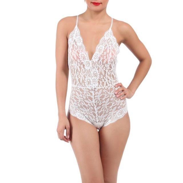La Modeuse - Body transparent dentelle blanc - pas cher Achat ... a8a5ec956be