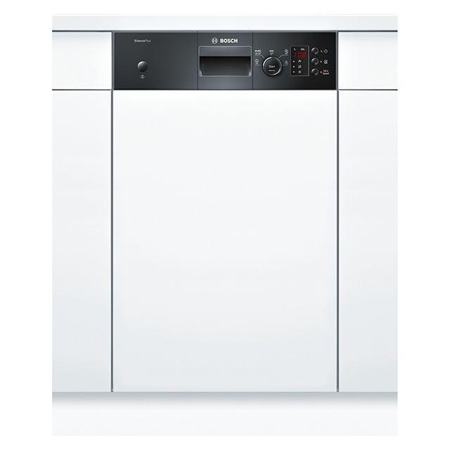 Bosch lave-vaisselle 45cm 9 couverts a+ intégrable avec bandeau apparent noir - spi50e96eu