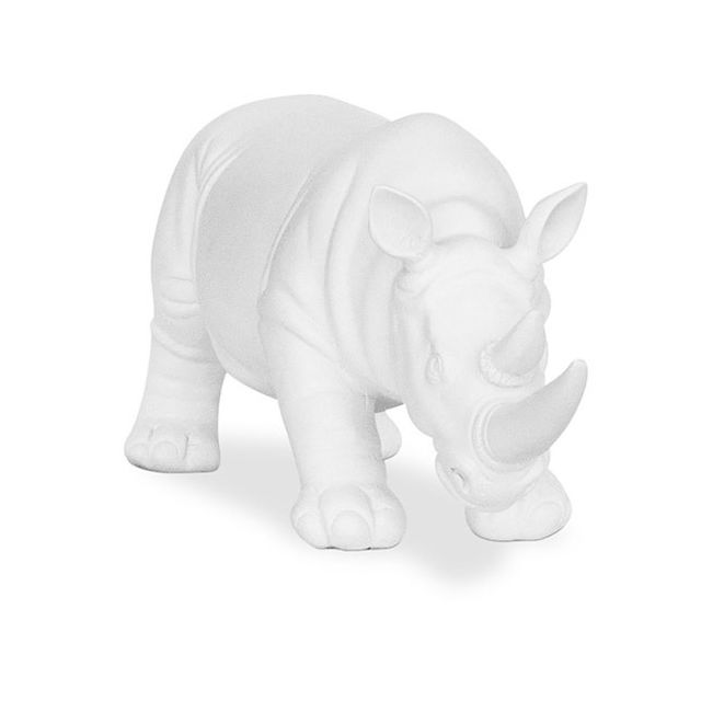 Privatefloor Figure de rhinocéros en résine