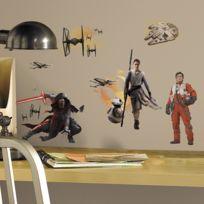 Mon Beau Tapis - Stickers Star Wars Episode Vii Roommates Repositionnables 15 stickers - jusqu'à 30cm