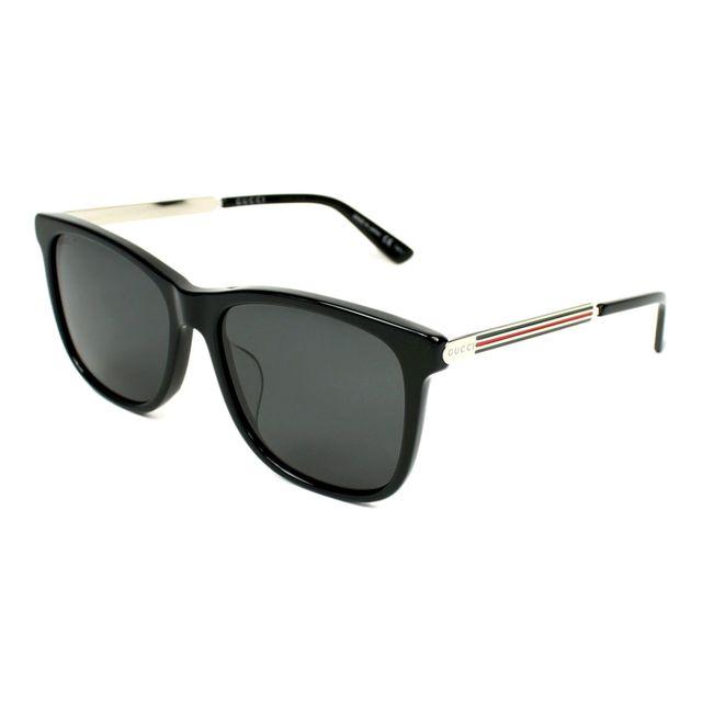 0c8c1a3ee2a5 Gucci - Lunettes de soleil Gg-0078-SK 002 Homme Noir - pas cher Achat    Vente Lunettes Tendance - RueDuCommerce