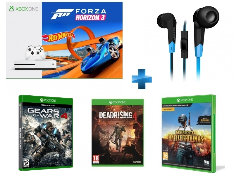 Pack Xbox One S 500Go Forza Horizon 3 + Hot Wheels + Gears Of War 4 - Xbox One + DEAD RISING 4 + PUBG - PlayerUnknown's Battlegrounds Game Preview Edition + Syva