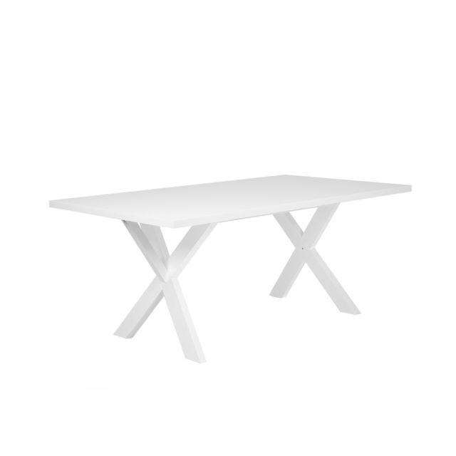 BELIANI Table blanche 180 x 100 cm LISALA - noir