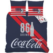 Coca Cola - Housse de couette Sport 75% coton 25% polyester