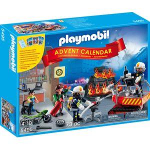 playmobil calendrier de lavent brigade de pompiers 5495 - Playmobil Pompier