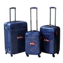 LEE COOPER - Set de 3 valises rigides DENIM - ABS et polycarbonate - Bleu
