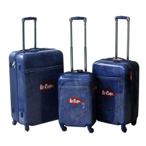 LEE COOPER - Set de 3 valises rigides DENIM - ABS et polycarbonate - Bleu 180