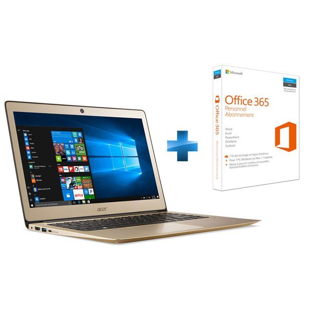 ACER - Swift 3 SF314-51-302G - Or + Microsoft Office 365 Personnel
