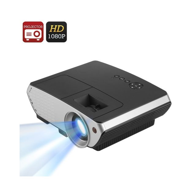 Auto-hightech Video Projecteur Led 2000 Lumens 50 à 140 pouces de projection, 1080P Keystone Correction, Hdmi, Vga, Usb