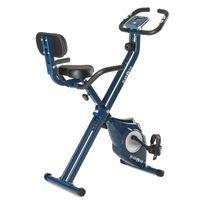 Klarfit - Azura Vélo d'appartement Pro en X de 3 kg, charge 100 kg max, pulsomètre - bleu