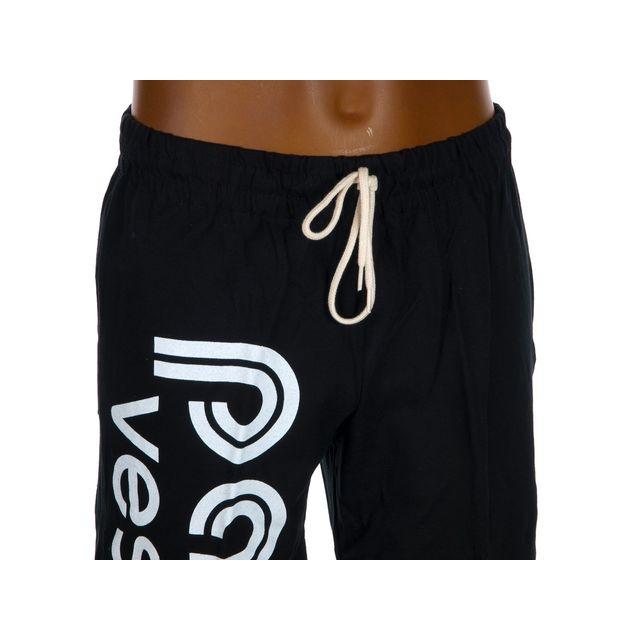 Panzeri - Pantalon de survêtement Uni h noir/blc jerseypant Noir 60321