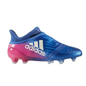 adidas Performance X 16+ PURECHAOS FG - Chaussures de foot à crampons - blue / footwear white / shock pink