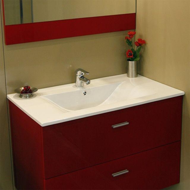 CREAZUR - Plan simple vasque céramique CÉRAPLAN - 80 cm