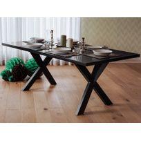 Beliani - Table de salle à manger - table de cuisine - noir - Lisala