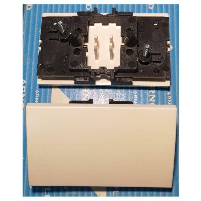 Plaque 1 poste blanc lumière Arnould club 65800