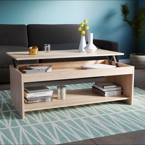 No Name Table Basse Oregon 120x60cm Chêne Blanchi Pas Cher