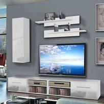 Bonareva - Meuble Tv - London - Drapeau anglais - Blanc - pas cher ...