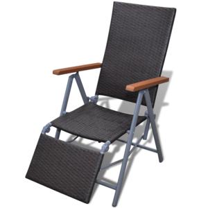 Vidaxl Chaise en Rotin Marron avec Armature Aluminium