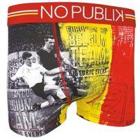 No Publik - Boxer Homme Microfibre Belgique Rouge