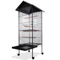 Rocambolesk - Superbe Volière cage à oiseaux metal canaries perroquet perruches hauteur 157cm