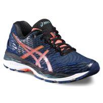 Asics - Gel Nimbus 18 Bleue Et Corail chaussure running femme