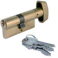 Tesa Securite France - Cylindre De Serrure Te.5 Tesa - Coloris Laiton Varie - Type:Bouton - Dim. mm:30 x 30B