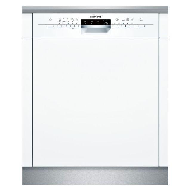 SIEMENS lave-vaisselle 60cm 12 couverts a+ intégrable avec bandeau apparent blanc - sn55l202eu