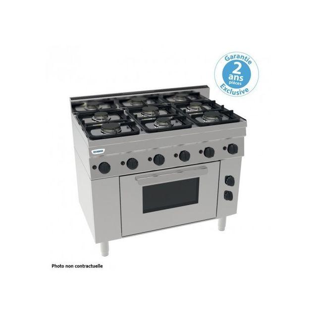 Materiel Chr Pro Piano de cuisson 5 feux sur four électrique ventilé Gn 1/1 - grilles 530 x 325 mm - gamme 600 - Tecnoinox - 600