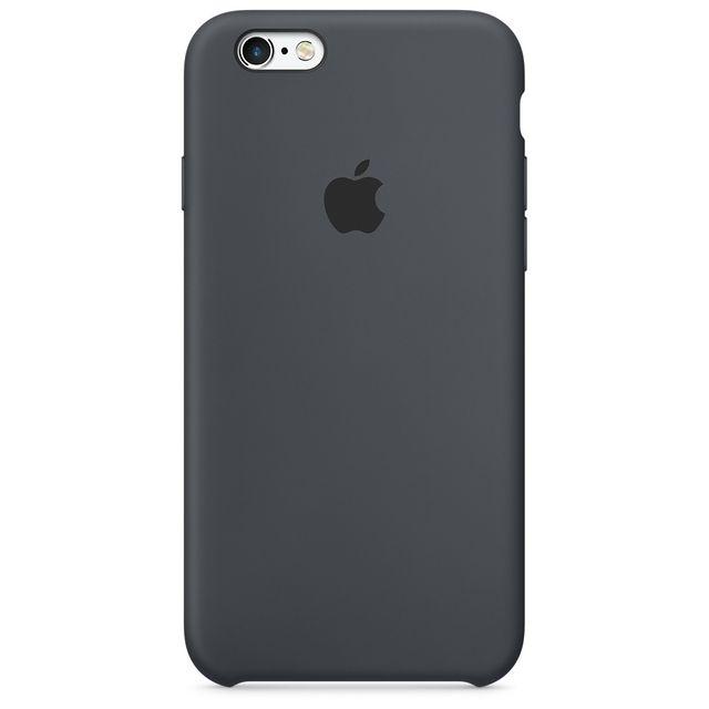 apple iphone 6s silicone case gris anthracite pas cher achat vente coque tui smartphone. Black Bedroom Furniture Sets. Home Design Ideas