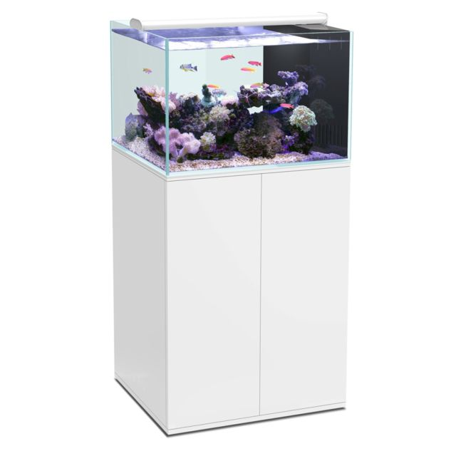 aquatlantis ensemble eau de mer 200 litres ultra clear aquarium meuble