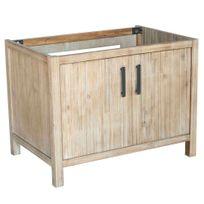 Alinéa - Lys Meuble de cuisine pour évier à poser 2 portes 90cm