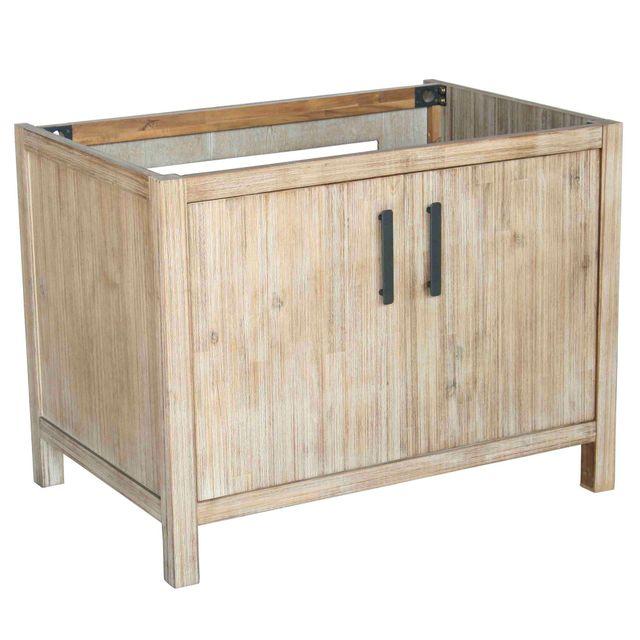 Alinéa - Lys Meuble de cuisine pour évier à poser 2 portes 90cm ...