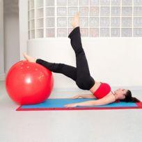 Totalcadeau - Ballon de Gym 65 cm avec pompe - Yoga, Pilates, Fitness, Thérapie Physique, Sport et maison d'exercice femme enceinte
