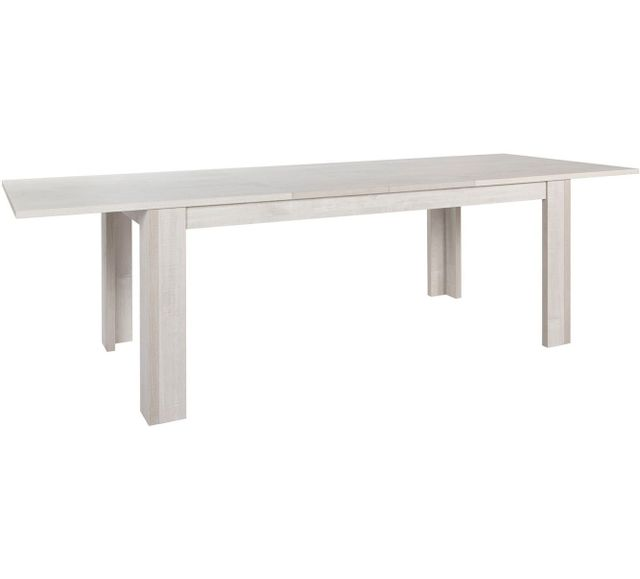 Comforium Table extensible rectangulaire contemporaine 185-265 cm coloris chêne andes