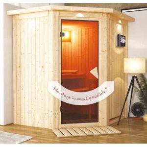 karibu sauna bois 68mm d 39 int rieur tonja 2 3 places avec. Black Bedroom Furniture Sets. Home Design Ideas